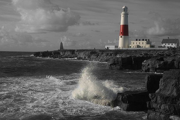 The Portland Bill Lighthouse in Dorset